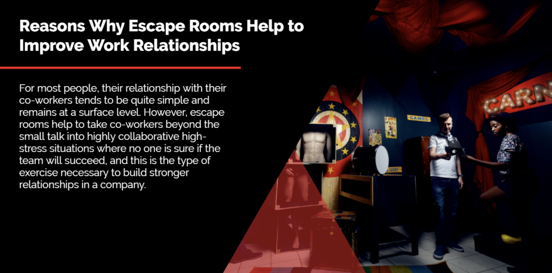 Reasons why escape rooms help to improve work relationships | A/Maze Ottawa