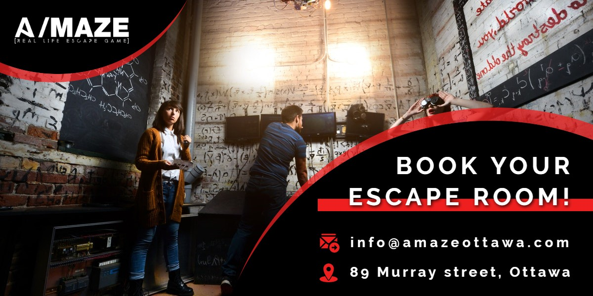 Book Your Escape Room! | A/Maze Ottawa