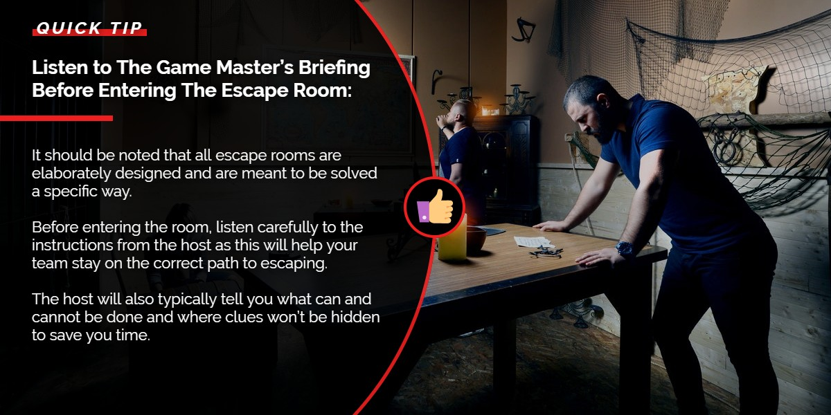 Listen to the game master's briefing before entering the Escape Room | A/Maze Ottawa